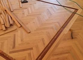 Herringbone border installation-2
