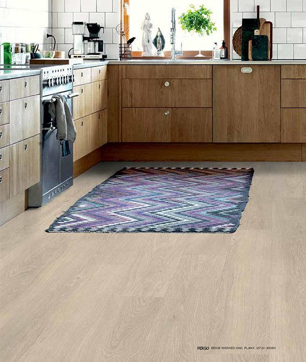 Kitchen with Vinyl Flooring and Luxury Vinyl Plank Flooring in Mattituck, NY