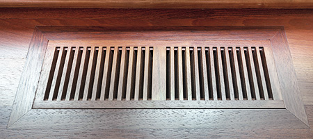 flush wood floor register
