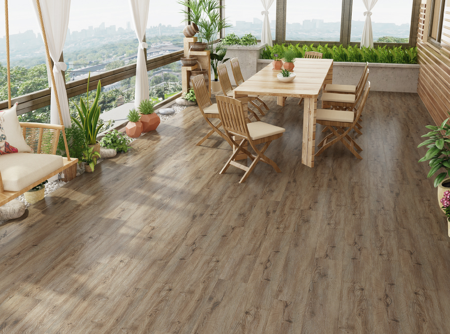 Sun Room of House with Vinyl Flooring and Vinyl Plank Flooring in Oakdale, NY